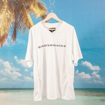 Quartersnacks - Institute Soccer Jersey - White / White