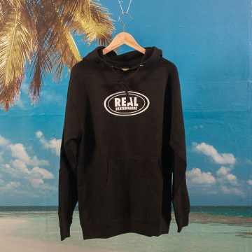 Real Skateboards - OG Oval Hoodie - Black