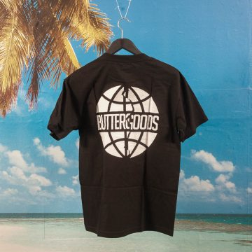Buttergoods - Scan Worldwide Logo T-Shirt - Black