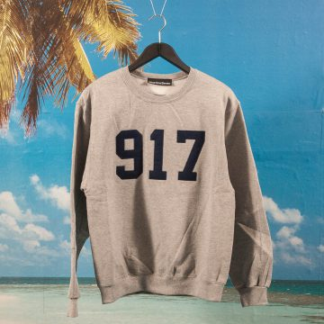 Call Me (917) - Varsity Applique Crew - Heather Grey