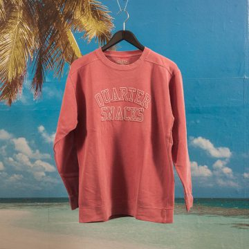 Quartersnacks - Arch Crew - Nantucket Red