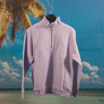 Polar Skate Co. - Half Zip Sweatshirt - Lavender