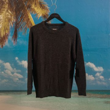 Brixton - Anderson Sweater - Grey / Black