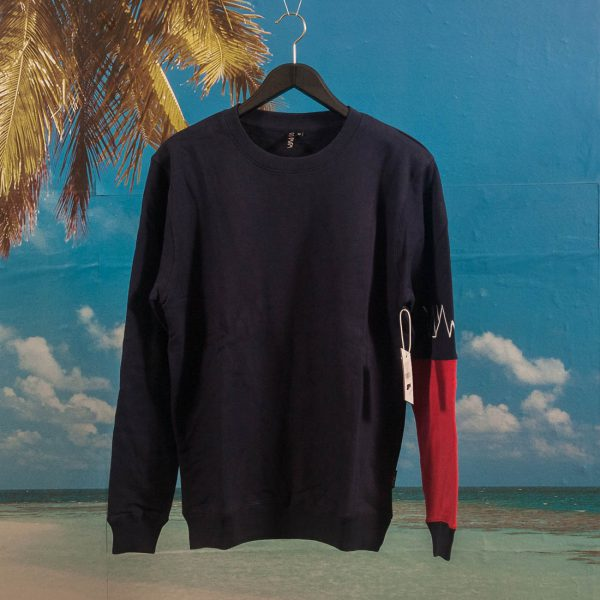 Wayward Wheels - Basque Crewneck - Navy