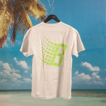 Bronze 56k - Logo T-Shirt - Ash / Lime / White