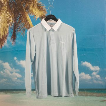 Dime MTL - Rugby Shirt - Baby Blue