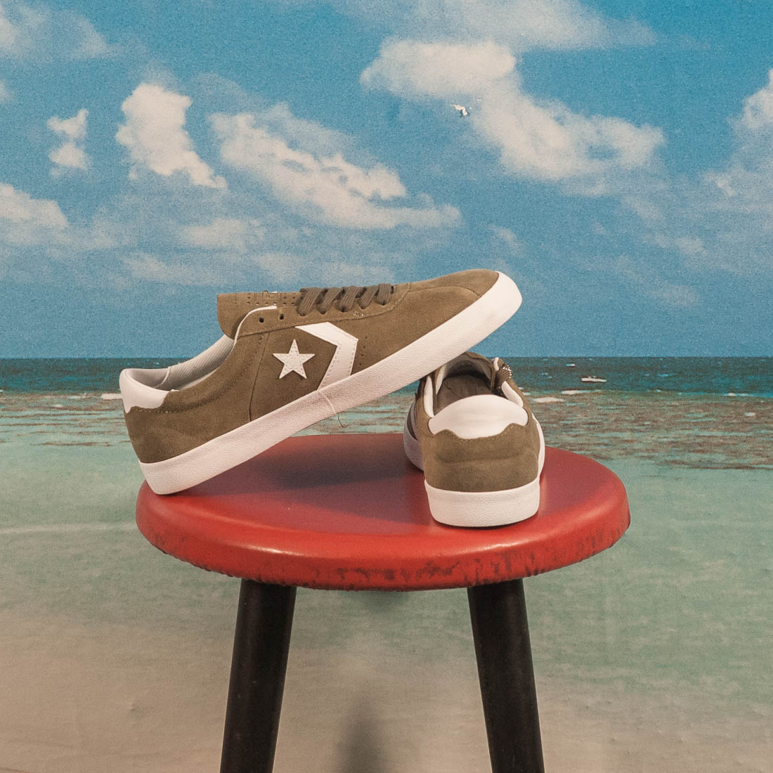Converse Cons - Breakpoint Pro OX - Medium Olive / White