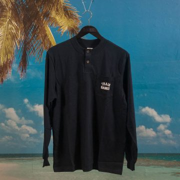 Polar Skate Co. - Train Banks Henley Long Sleeve - Navy