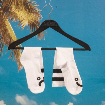 Polar Skate Co. - Happy Sad Classic Socks - White