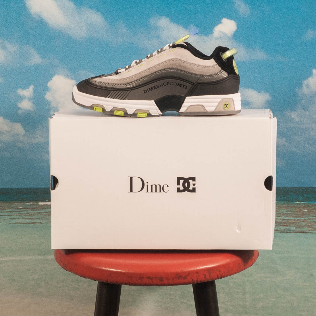 DC Shoes X Dime MTL - Dime Legacy OG - White / Grey