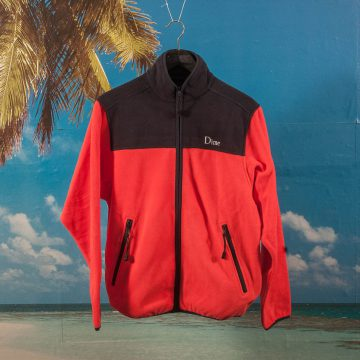 Dime MTL - Polar Fleece Jacket - Coral & Navy
