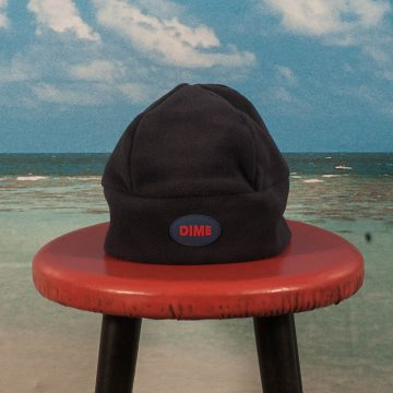 Dime MTL - Fleece Beanie - Navy / Coral