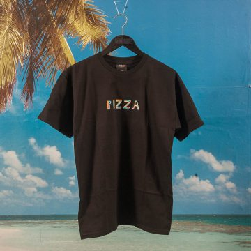 Pizza Skateboards - Stained Glass T-Shirt - Black