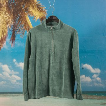 Polar Skate Co. - Terry Half Zip - Teal