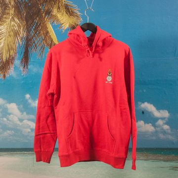 Quartersnacks - Snackman Embroidery Hoodie - Red
