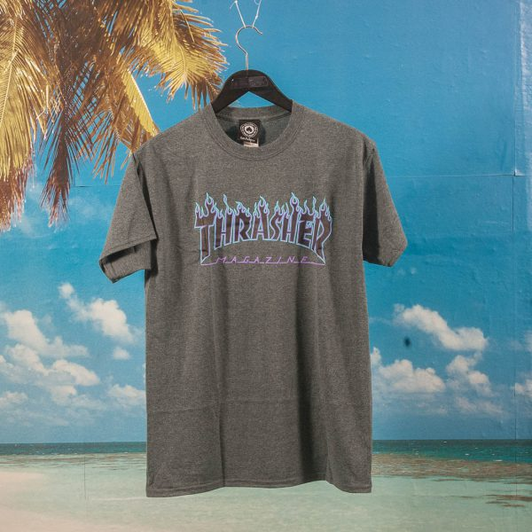 d094c92870e7 Thrasher - Flame T-Shirt - Dark Heather at SooHotRightNow Onlineshop - SHRN  Skateshop München