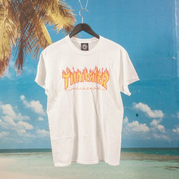 Thrasher - Flame T-Shirt - White