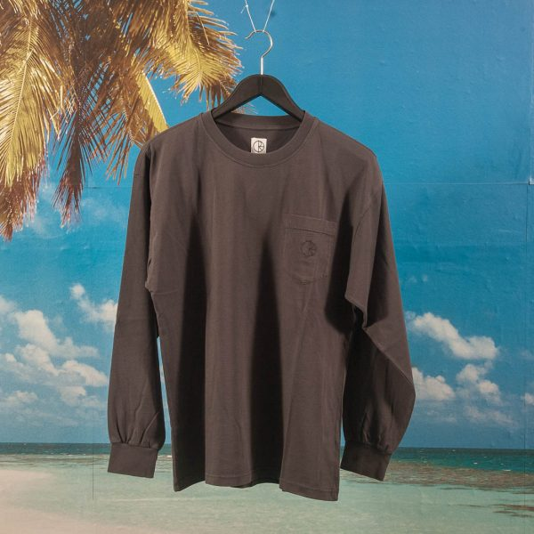 Polar Skate Co. - Garment Dyed Long Sleeve T-Shirt - Washed Black