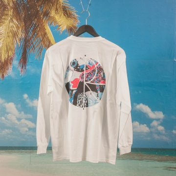 Polar Skate Co. - Orchid Fill Logo Long Sleeve T-Shirt - White