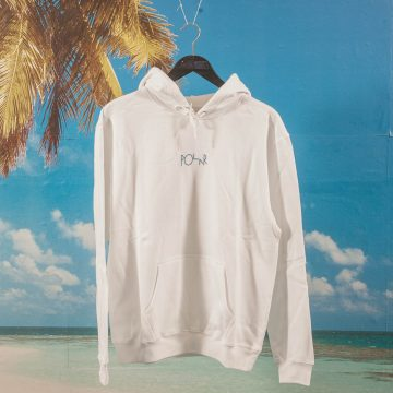 Polar Skate Co. - Orchid Fill Logo Hoodie - White