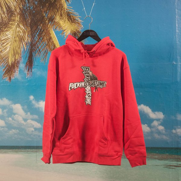 Fucking Awesome - Hobo Hoodie - Red