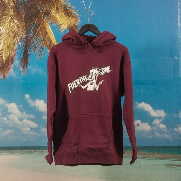 Fucking Awesome - Cig Man Hoodie - Maroon