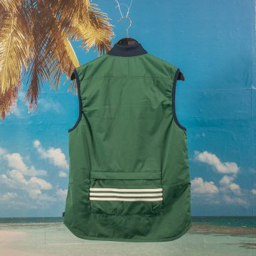 Adidas Skateboarding - Meade Vest - Green / Night Indigo