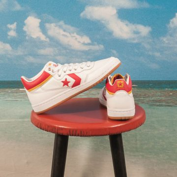 Converse Cons - Fastbreak Pro Mid - White / Enamel Red