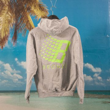 Bronze 56k - B Hoodie - Heather Grey / Lime