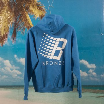 Bronze 56k - B Hoodie - Royal Blue / White