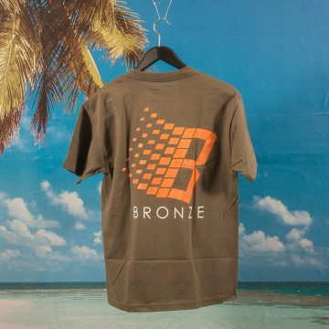 Bronze 56k - B T-Shirt - Military Green / Orange / White