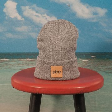 SHRN - Patch Beanie - Heather Grey