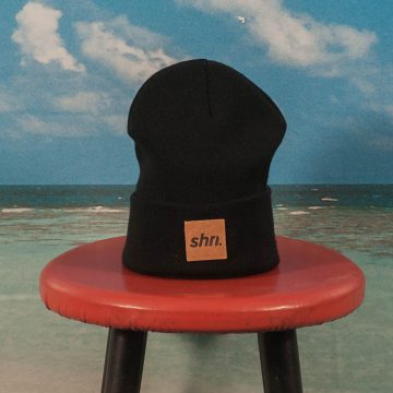 SHRN - Patch Beanie - Black