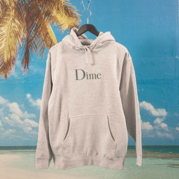 Dime MTL - Classic Logo Hoodie - Heather Grey