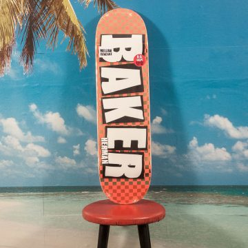 Baker Skateboards - Herman Brand Name Checkered Foil Deck - 8.5