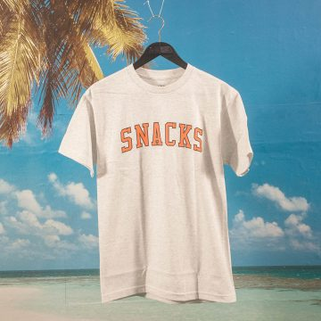 Quartersnacks - Snacks Varsity T-Shirt - Ash Grey