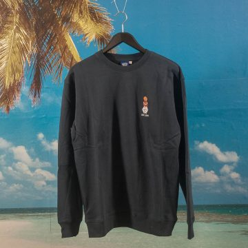 Quartersnacks - Embroidered Snackman Crew - Navy
