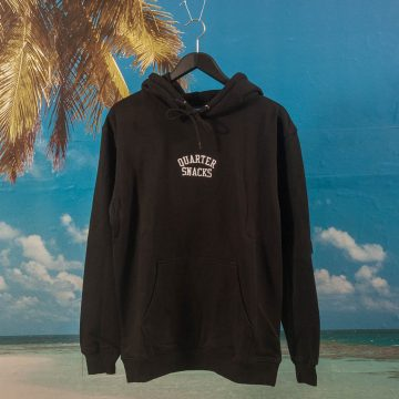 Quartersnacks - Embroidered Arch Hoodie - Black