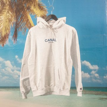 Canal New York - Classic Logo Hoodie - Heather White