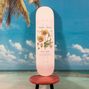 "Snack Skateboards - Nathan Porter ""Opium Poppy"" Deck - 8.25"