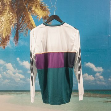 adidas Skateboarding - Tennis Jersey - White / Tribe Purple / Real Teal