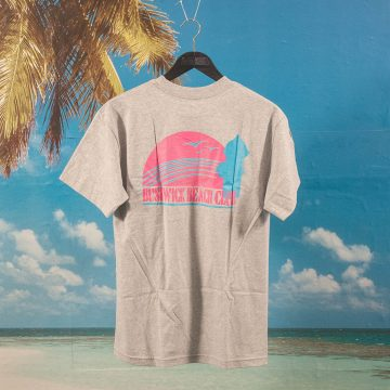 Jenkem Mag - Bushwick Beach Club T-Shirt - Heather Grey
