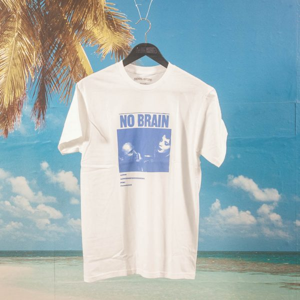 Fucking Awesome - No Brain T-Shirt - White / Blue