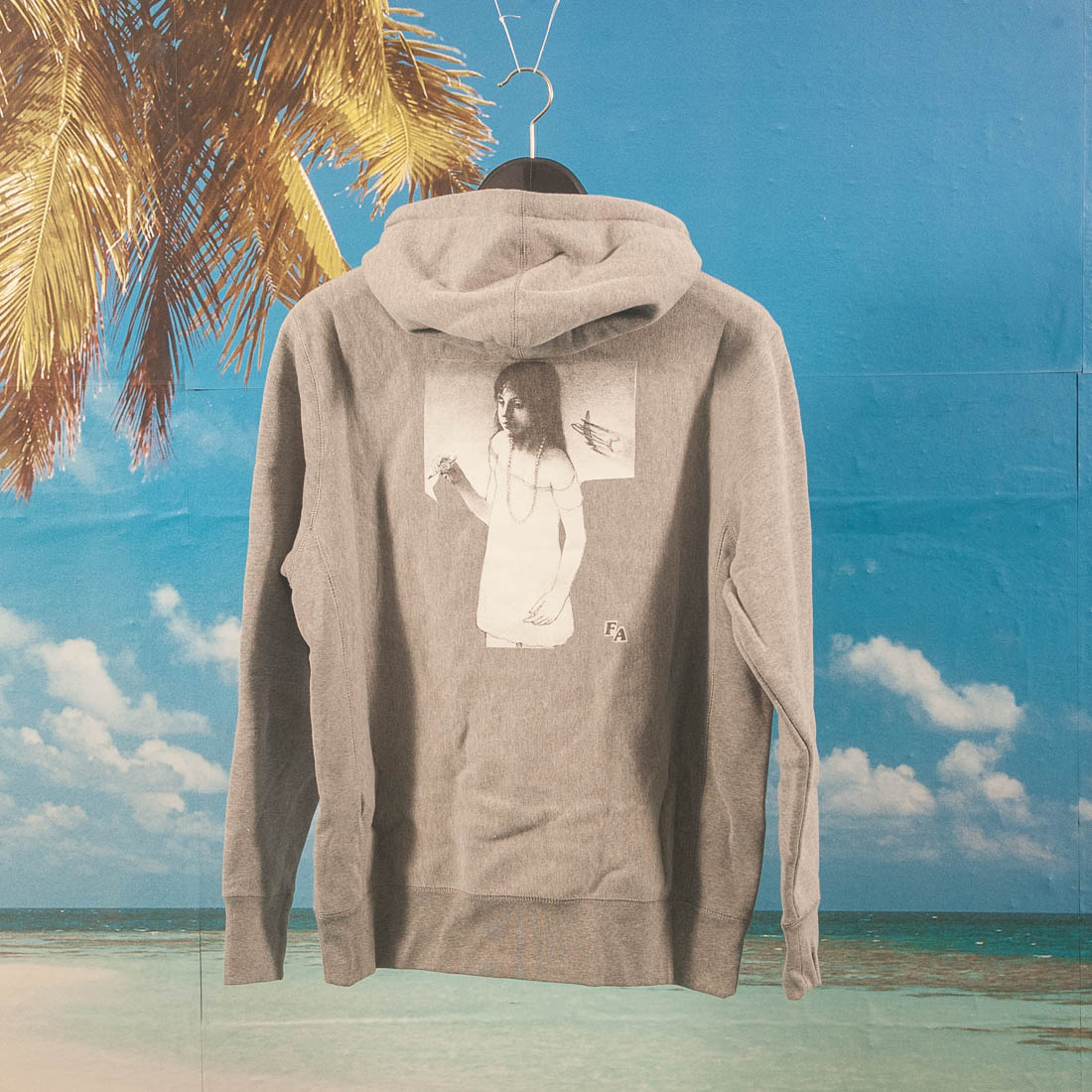 Fucking Awesome - Plane Girl Hoodie - Heather Grey