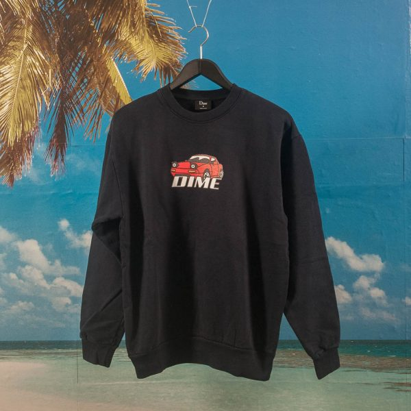 Dime MTL - Fast-Looking Car Crewneck - Navy