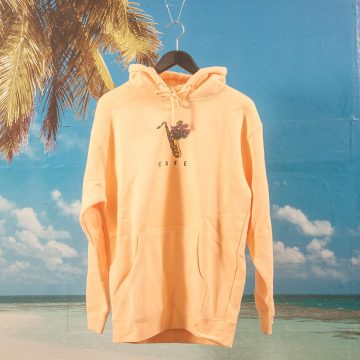 Skateboard Cafe - Sax Flowers Hoodie - Peach