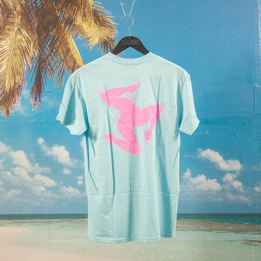 Call Me (917) - Surf Legs T-Shirt - Blue