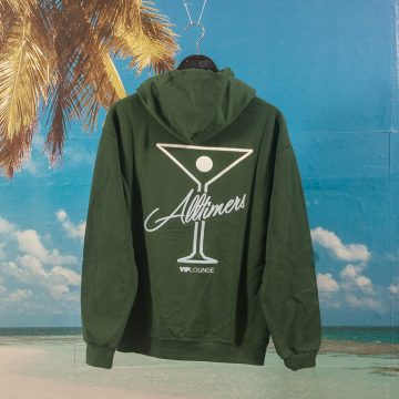 Alltimers - Puff Classic Logo Hoodie - Forest Green