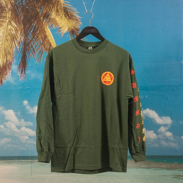 Welcome Skateboards - Beckon Longsleeve T-Shirt - Forest / Yellow / Orange