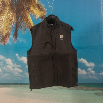 Polar Skate Co. - Halberg Fleece Vest - Black / Black